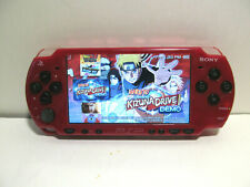 Sony Playstation PSP 2000 Red/Black 4GB Bundle W/ Games, Card, & Charger