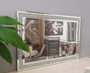 New Gorgeous Design Multi Aperture Silver Sparkle Photo Frame For 6 Photos