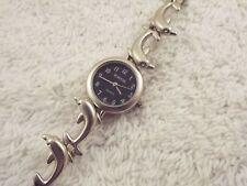 RUMOURS Matte Silvertone Dolphin / Porpoise Bracelet Watch (C42)