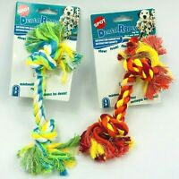 Dental Rope Toy for Dogs Chew Fetch & Floss Puppies Pet Toy for Dental Health