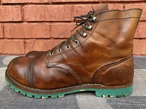 Red Wing Heritage Iron Ranger Amber 8111 Leather Boots Size UK 11 US 12.