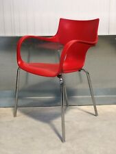 42X BRAND NEW RED PLASTIC FUNKY DESIGNER/CONTEMPORARY OFFICE/HOME DINING CHAIRS