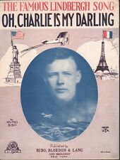 Oh Charlie is My Darling 1927 Lindbergh Sheet Music