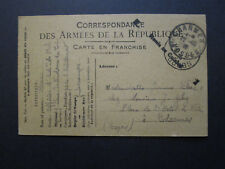 France 1916 Army Postal Card Used / Stampless - Z7085