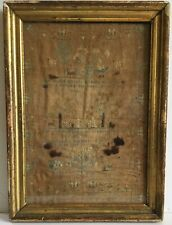 Dated 1802 American Sampler Dogs Mother Child Birds Animals Margret Copland Ma