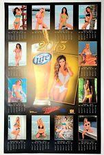 "Sexy Swimsuit Calendar Girls Models - Miller Lite Beer Poster  - 2013 - 28"" x 18"