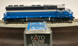 New DCC Ready Great Northern KATO N SCALE SD45 GN BIG SKY BLUE RD# 419 176-3126