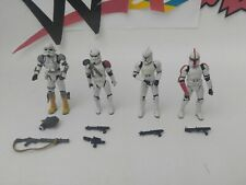 Hasbro Star Wars Clone Trooper Action Figure Lot all have accessories