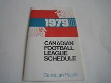 1979 CFL LEAGUE POCKET SCHEDULE***CANADIAN PACIFIC***