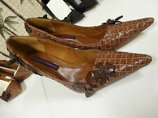 """Suzanne Somers womens 3.5"""" heel brown 8m NEW"""