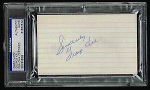 GEORGE KELL SIGNED INDEX CARD PSA/DNA 81857572