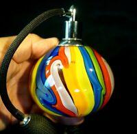 Beautiful Vintage Art Glass Multi Colour Perfume Bottle