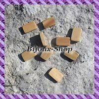 // 40 Perles Bois rectangle 17 x 11 mm