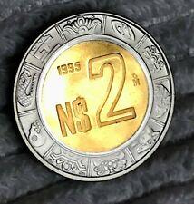 1995 MEXICO $2 NUEVOS  PESOS PROOF VERY SCARCE INMACULATE BRIGHTNESS