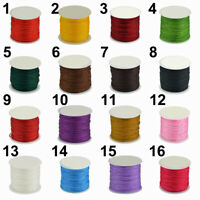 Waxed Cotton Cord Wire Thread Beading DIY Macrame String Jewelry 0.8mm x 45m