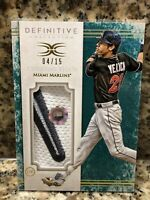 4/15 Christian Yelich 2017 Topps Definitive Game Used JUMBO 2 COLOR  SICK PATCH