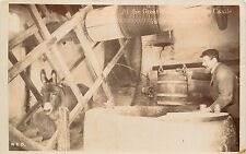 1905-15 Real Photo Pc Donkey & Winch Great Well Carisbrooke Castle Isle of Wight