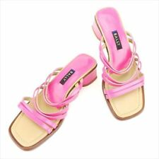 Bally Flip Flops Pink Beige Woman unisex Authentic Used T6762
