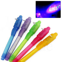 1PC Invisible Ink Spy Pen Built in UV Light Magic Marker Secret Message Gadget