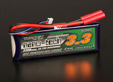 Turnigy Nano-Tech 3300mAh 2S 7.4V 35C 70C Lipo Battery Pack 4mm Bullet Connector