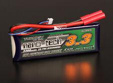 Turnigy Nano-Tech 3300mAh 2S 7.4V 35C 70C Lipo Battery Pack 4mm Bullet Connector