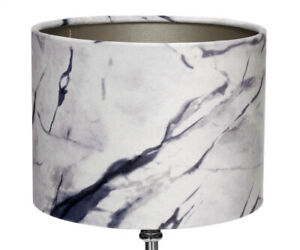 Table Desk Lamp Vintage Design Lampshade IN Marble Look Table Lamp Suede New