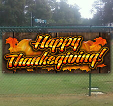 Happy Thanksgiving Advertising Vinyl Banner Flag Sign Many Sizes Available Usa