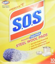 Steel Wool Soap Pads, 10 PACK. FREE SHIPPING