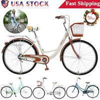 26In Womens Bikes Beach Cruiser Bike Xmas Gift Bicycle City Cycling Commuters