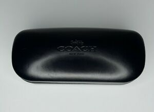 Coach New York Glasses Case Black Clam Shell Pre-Owned Good