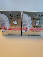 2X OLAY Daily Facial Hydrating Cleansing Cloths 33ct in each box