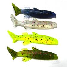 4pcs Soft Plastic Fishing Lures Crankbait Bait Mixed Colors For Outdoor Fishing