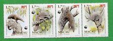 Macau Pangolin #767 -70 Vf, Mnh Strip Of 4 / Has Crease, Fold - S8121