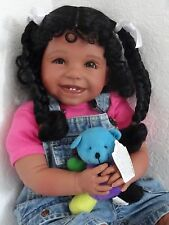 "Reborn 22"" African American/Ethnic/Hispanic Toddler girl doll ""Joy""- Faith Club"