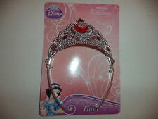 Disney Princess Silver Tiara With Five Red Stones One Larger Heart Stone