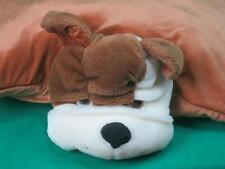 Brown White Bulldog Velcvelcr Ro Snap Soft Plush Animal Pillow Sleepover Pal Toy