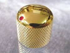 GOLD ELECTRIC GUITAR KNOB WITH RED DOT MARKER - push on