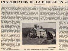 23 L EXPLOITATION DE LA HOUILLE EN CREUSE ARTICLE DE PRESSE 1932