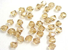 24 Lt Colorado Topaz Swarovski Crystal 5328 Xilion Bicone Beads 4MM