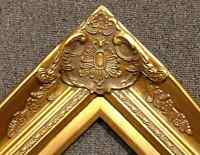 "4"" Gold Leaf Wood Antique Picture Frame wide photo art gallery B9G"
