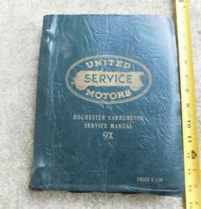 VINTAGE ROCHESTER CARBURETOR SERVICE MANUAL MOSTLY 1950s BUICK CHEVY OLDS MORE