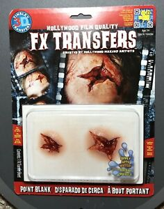 3D Point Blank Tinsley Transfers Makeup FX Temporary Tattoo