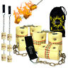 """Fire Poi -""""TRIPLE Burner"""" Flames N Games Pro Fire Spinning Poi/ 65mm wick + Bag!"""