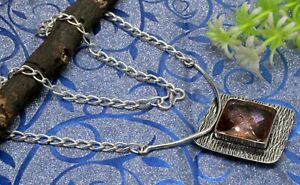 925 Sterling Silver Morganite Gemstone Jewelry Handmade Necklace Size-17-18'