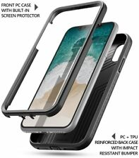 Apple iPhone X (2017) Case Poetic【Revolution】Built-in-Screen Protector Case BLK