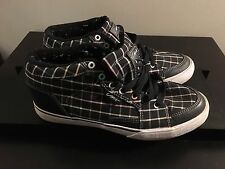 Circa Women's Black Striped Classic High Top Shoes Sneakers - US 8
