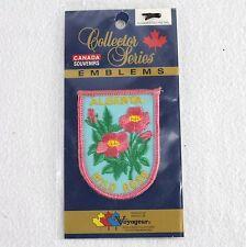 Alberta Canada Souvenir Patch Wild Rose Collector Series Emblem Voyageur Sew On