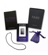 10g Silver Pamp Suisse icOns Cobra Skin .999 fine Silver Ingot Pendant