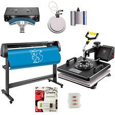 15x15 Heat Press 6 In 1 Sublimation Machine 53 Vinyl Cutterplotter Cutting
