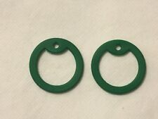 (2) Military Dog Tag Silencers Rubber Silicone Silencer (Green)